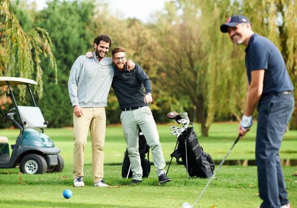 joueurs de golfe