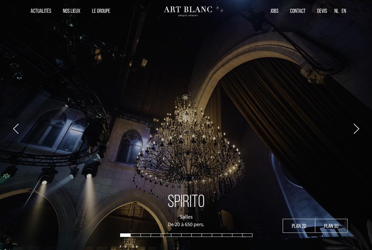 screenshot site art blanc