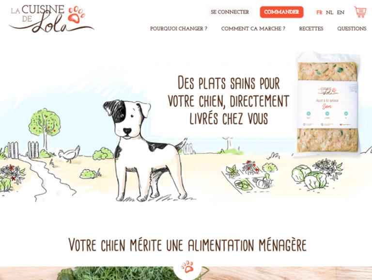 screenshot site la cuisine de lola